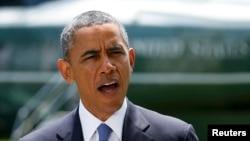 Presidenti amerikan, Barack Obama duke folur në oborrin e Shtëpisë së Bardhë (ARKIV)