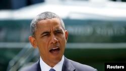 Президент США Барак Обама выступает с заявлением по Ираку 13 июня 2014 г.