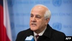 Палестинаның БҰҰ-дағы өкілі Рияд Мансур.