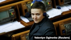 Nadia Savchenko in parliament on March 15