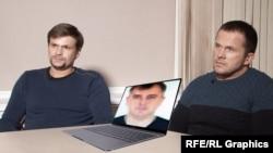 Петров, Боширов и Сергеев, коллаж