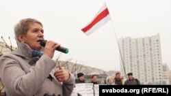 Тацяна Канеўская, перадвыбарчы мітынг АГП у Гомлі