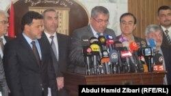 برلمانيون في مؤتمر صحفي بأربيل