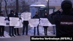 Пикет против сноса рынка автозапчастей в Иркутске, 19 ноября 2018