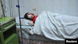 Tetyana Chornovil në një spital të Kievit.