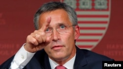 "Current NATO chief Anders Fogh Rasmussen says Jens Stoltenberg (pictured) is ""the right man to build on NATO's record of strength and success."""