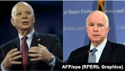 Senators Ben Cardin (left) and John McCain have been pushing efforts to impose new economic sanctions on Moscow. (composite file photo)