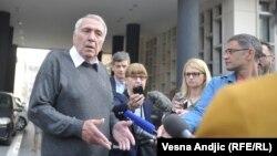Milan Jovanović ispred suda u Beogradu, april 2019.