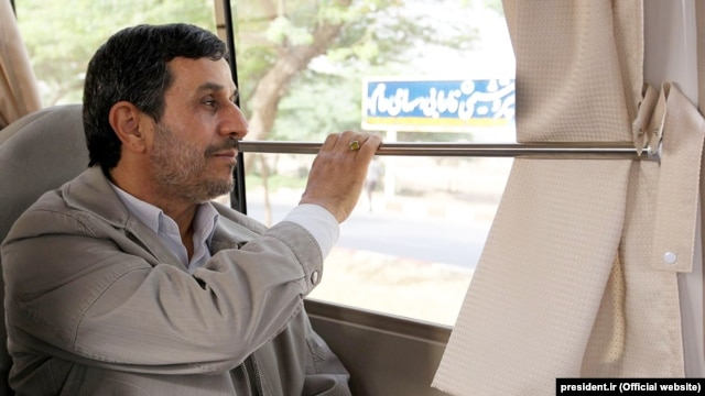 Outgoing Iranian President Mahmud Ahmadinejad (file photo)
