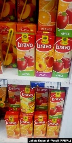 Një produkt ndërkombëtar që prodhohet me Serbi, me flamur të Kosovës
