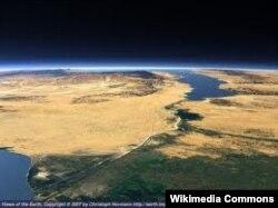 Суэцкий канал, вид из космоса