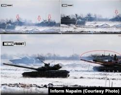 Видео учений боевиков под Луганском зимой 2014 года