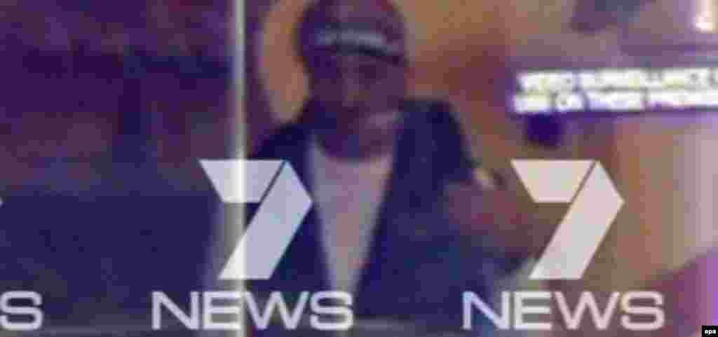 Предполагаемый преступник, лицо которого удалось заснять телевизионному каналу Channel 7 News