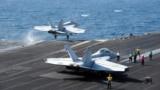 مقاتلتان تنطلقان من حاملة طائرات أميركية في الخليج لضرب مواقع داعش بالعراق وسوريا
