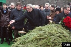 Михаил Касьянов на похоронах Бориса Немцова. Москва, 3 марта 2015 года