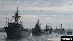 Navele flotei militare ruse la Sevastopol, după anexarea Crimeei