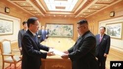Делегація з Південної Кореї на зустрічі 5 вересня передала Кімові листа від американського президента Дональда Трампа