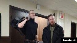 Даниил Конон и Сергей Абаничев перед заседанием суда