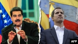 Nicolas Maduro (left) and Juan Guaido (combo photo)
