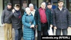 Юрый Конышка і іншыя сябры сустракаюць з ІЧУ Ігара Грышанава