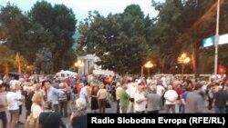 Протест против промена на името во Скопје