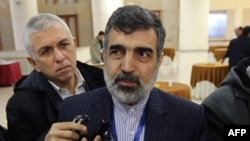 Iran -- Spokesman of the Atomic Energy Organization of Iran (AEOI), Behruz Kamalvandi talks to Iranian journalists during the opening session of a two-day conference on combatting extremism inTehran, December 9, 2014