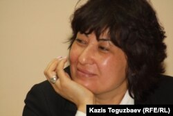 «Стратегия» әлеуметтік және саяси зерттеулер орталығы президенті Гүлмира Илеуова. Алматы, 5 мамыр 2014 жыл.