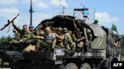 Ресейшіл сепаратистер. Донецк маңы. 11 шілде 2014 жыл.