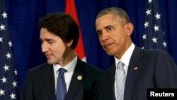 Обама(у) һәм Трюдо.