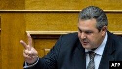 Panos Kammenos, udhëheqës i Partisë së Grekëve të Pavarur.