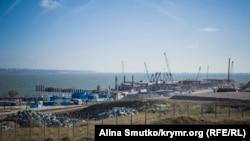 Архивное фото, строительство Керченского моста
