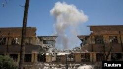 Pamje gjatë sulmit në Mosul