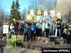 """Акция активистов """"Открытой России"""" в Чувашии, апрель 2017 года"""