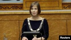 Presidentja e Estonisë, Kersti Kaljulaid. Talin, 10 tetor 2016.