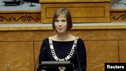 Керсті Кальюлайд під час складення присяги, Таллінн, 10 жовтня 2016 року