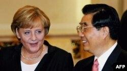 Лидеры Германии и Китая - Ангела Меркель и Ху Цзиньтао