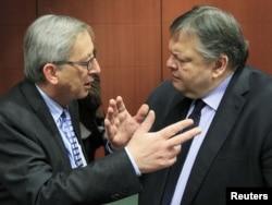 Jean-Claude Juncker i Evangelos Venizelos