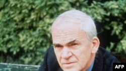 Milan Kundera pictured in 2002