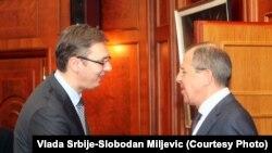 Aleksandar Vučić i Sergej Lavrov