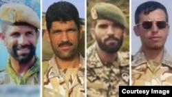 چهار تکاور کشته شده ایرانی در سوریه