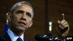 Birleşen Ştatlaryň prezidenti Barak Obama. 25-nji aprel. 2016 ý.