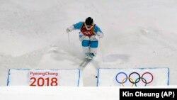 Павел Колмаков жарыс жолында. Пхенчхан. 12 ақпан 2018 жыл.