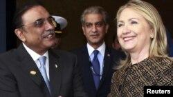 Али Асиф Зардари и Хиллари Клинтон