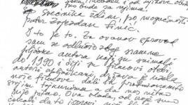 Dio oproštajnog pisma Krsta Papića