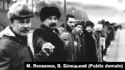 «Живая цепь» в 1990 году от Львова до Киева – фотоархив