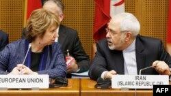 محمد جواد ظریف و کاترین اشتون در مذاکرات ماه گذشته