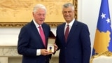 Kosovo - Bill Clinton and Hashem Thaci - screen grab