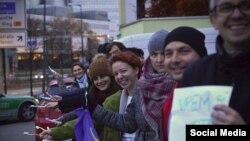 La München, alegători români din Diaspora în alegerile prezidențiale din noiembrie 2014