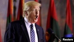 Birleşen Ştatlaryň prezidenti Donald Tramp kandidatka metbugaty garalap geldi.