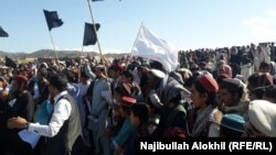 Supporters of the Pashtun Tahafuz Movement protest the killing of leader Sardar Wazir Arif, in Khost, on May 5.